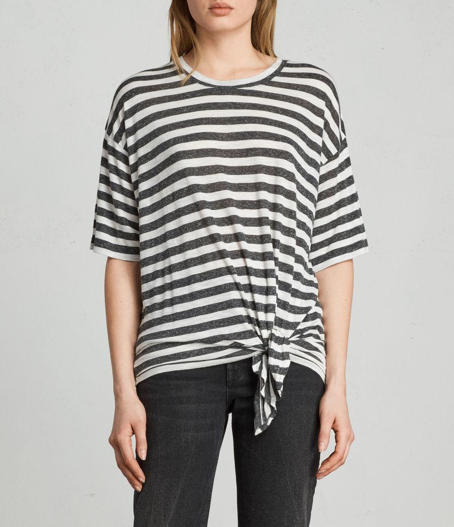 Womens Meli Stripe T-Shirt (chalk_charcoal) - Image 1