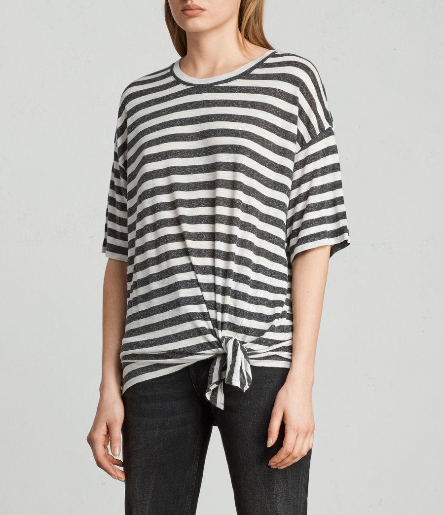 Womens Meli Stripe T-Shirt (chalk_charcoal) - Image 2