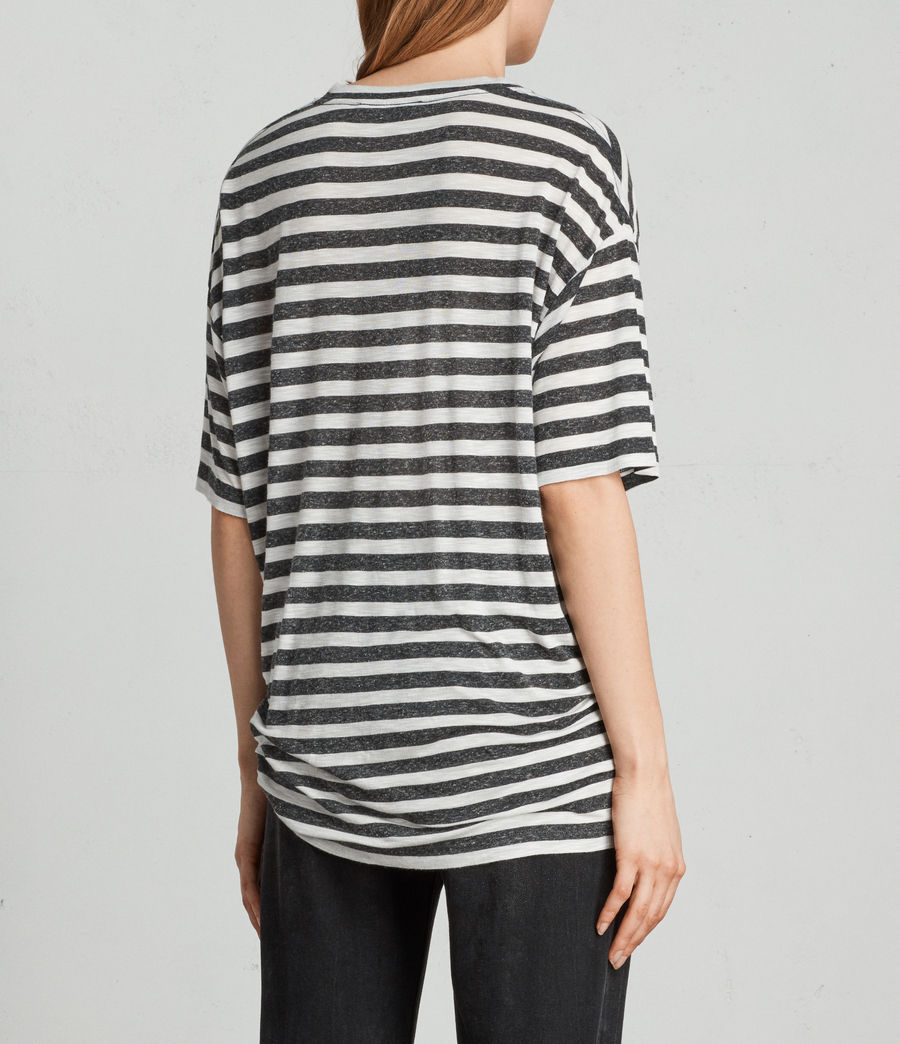 Womens Meli Stripe T-Shirt (chalk_charcoal) - Image 3