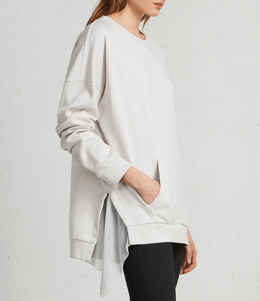 Womens Eva Crew Sweatshirt (ivory_white) - Image 1