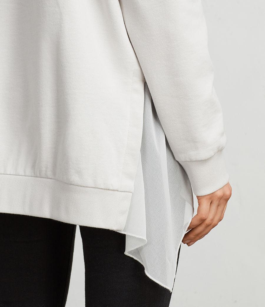 Womens Eva Crew Sweatshirt (ivory_white) - Image 2