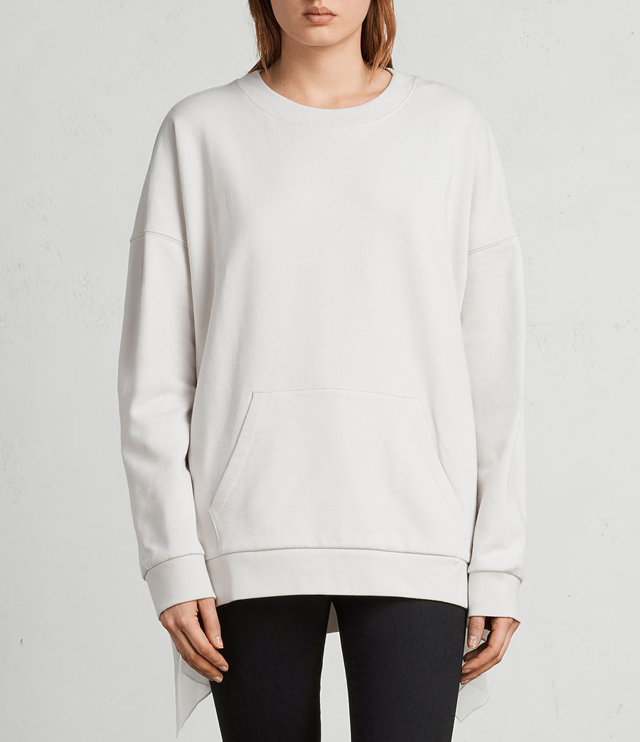 Womens Eva Crew Sweatshirt (ivory_white) - Image 3