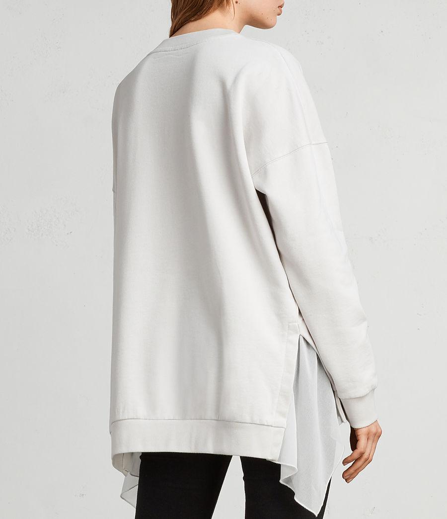 Womens Eva Crew Sweatshirt (ivory_white) - Image 4