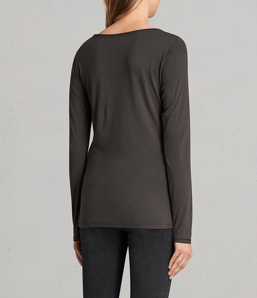 Donne T-shirt Vetten maniche lunghe (washed_black) - Image 3