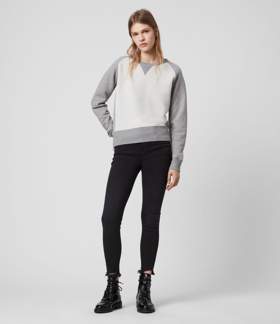 Women's Deecie Mix Sweatshirt (grey_marl) - Image 3