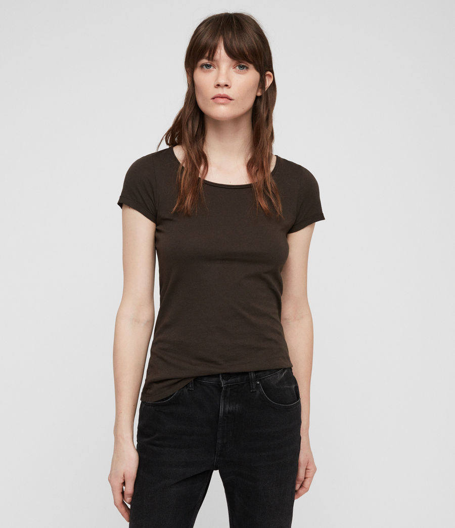 Womens Vetten T-Shirt (washed_black) - Image 1