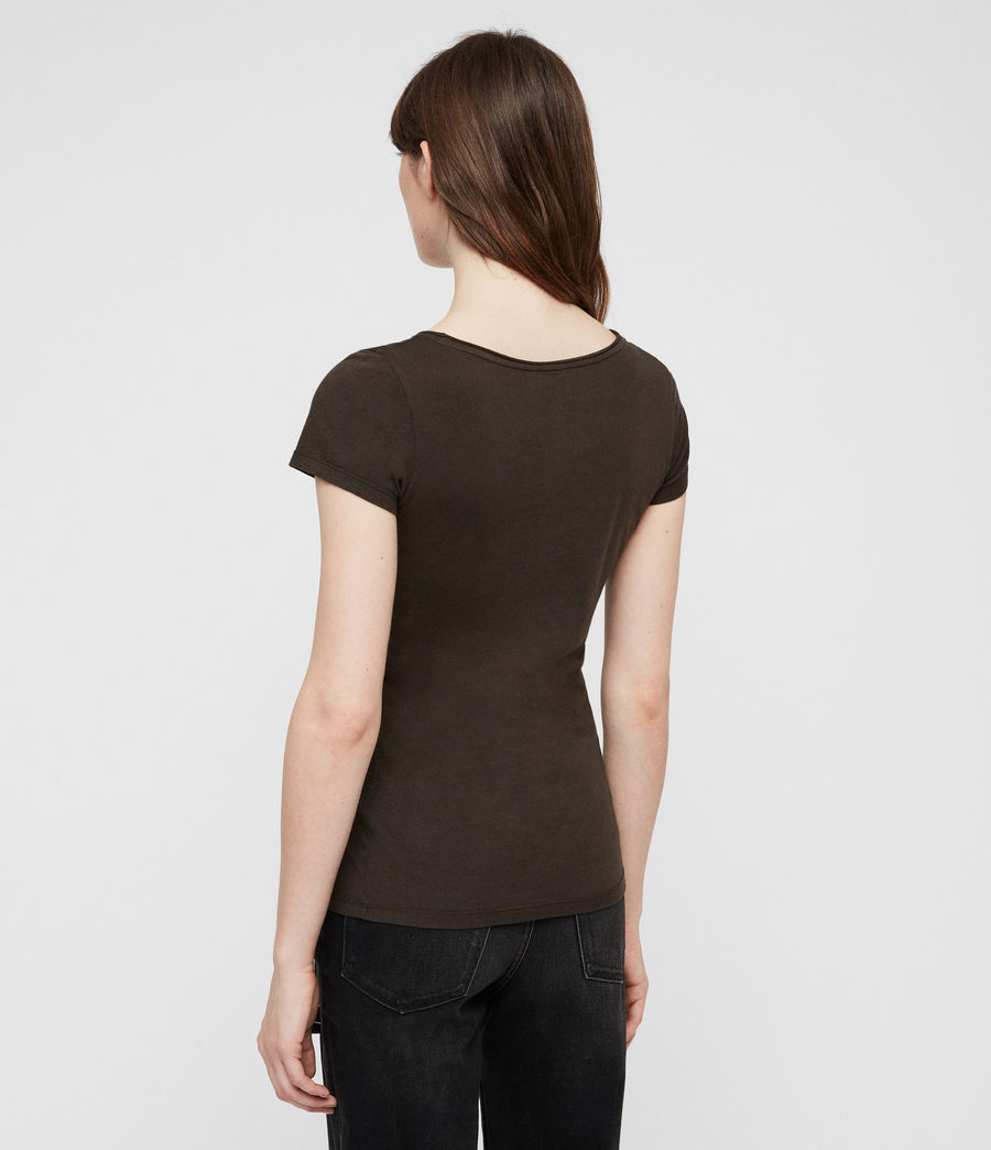 Damen Vetten T-Shirt (washed_black) - Image 4