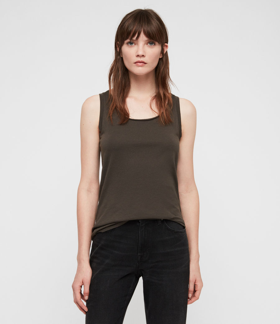 Women's Vetten Tank (washed_black) - Image 1