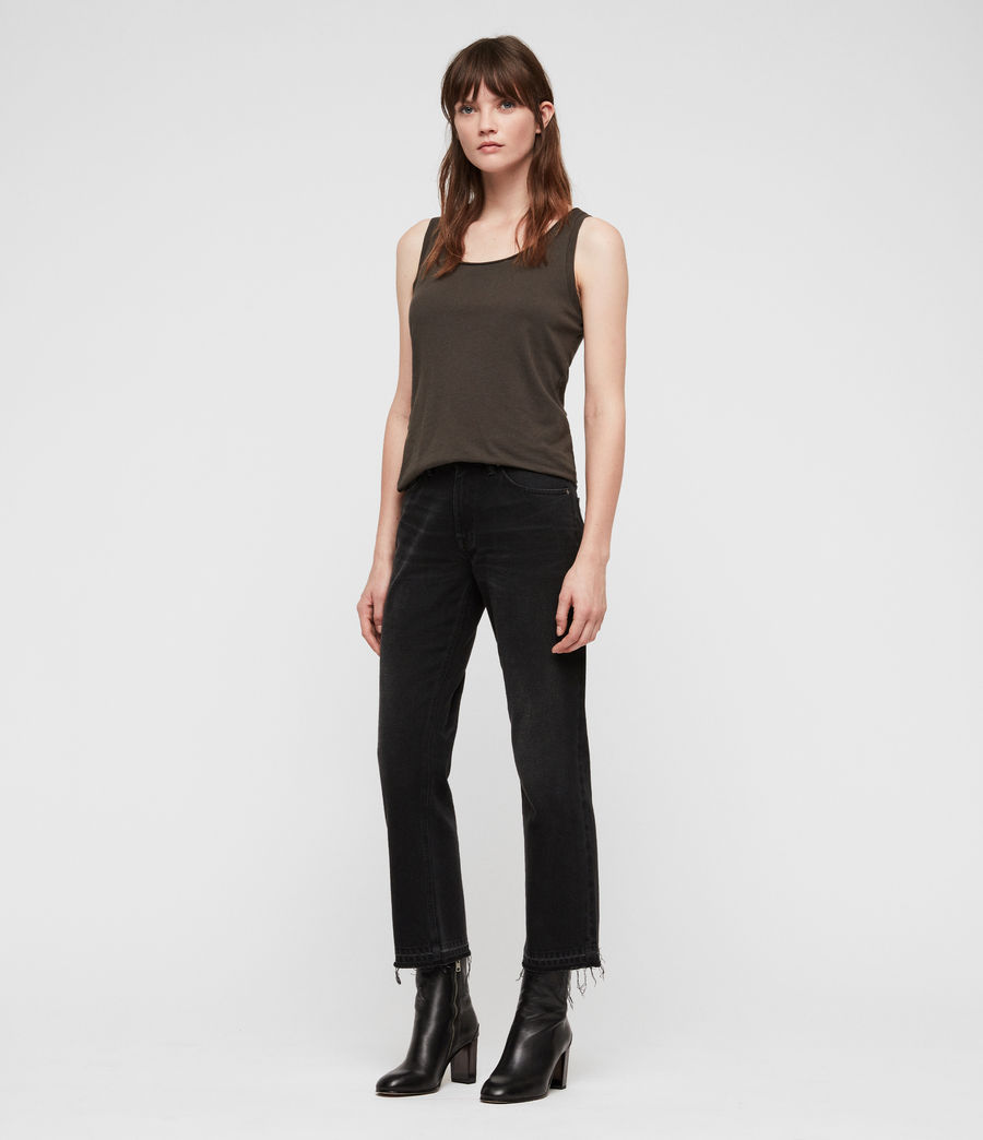 Women's Vetten Tank (washed_black) - Image 3