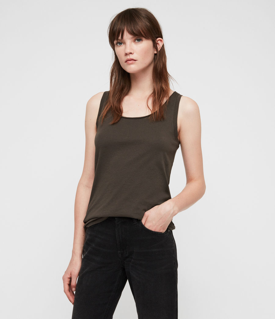 Women's Vetten Tank (washed_black) - Image 4