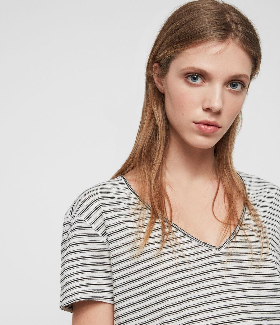 Womens Emelyn Stripe T-Shirt (ecru_black) - Image 3
