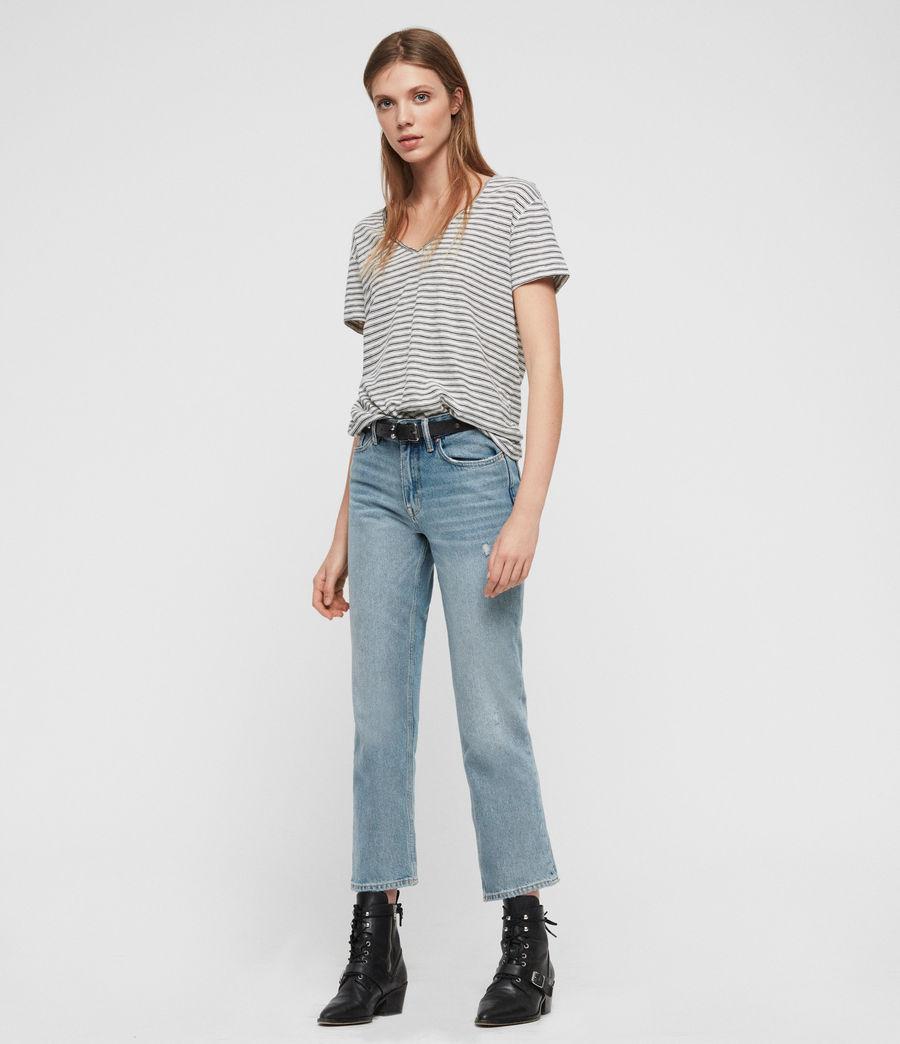 Womens Emelyn Stripe T-Shirt (ecru_black) - Image 4