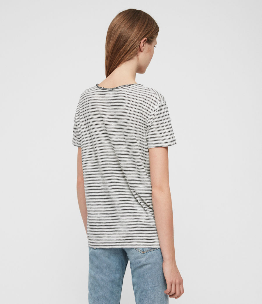 Womens Emelyn Stripe T-Shirt (ecru_black) - Image 5