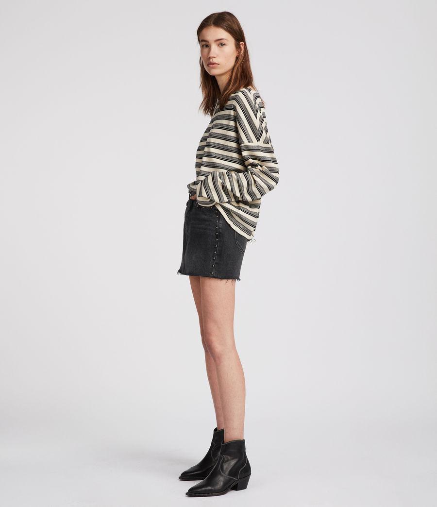 Mujer Top Tilly Stripe (cream_black) - Image 1