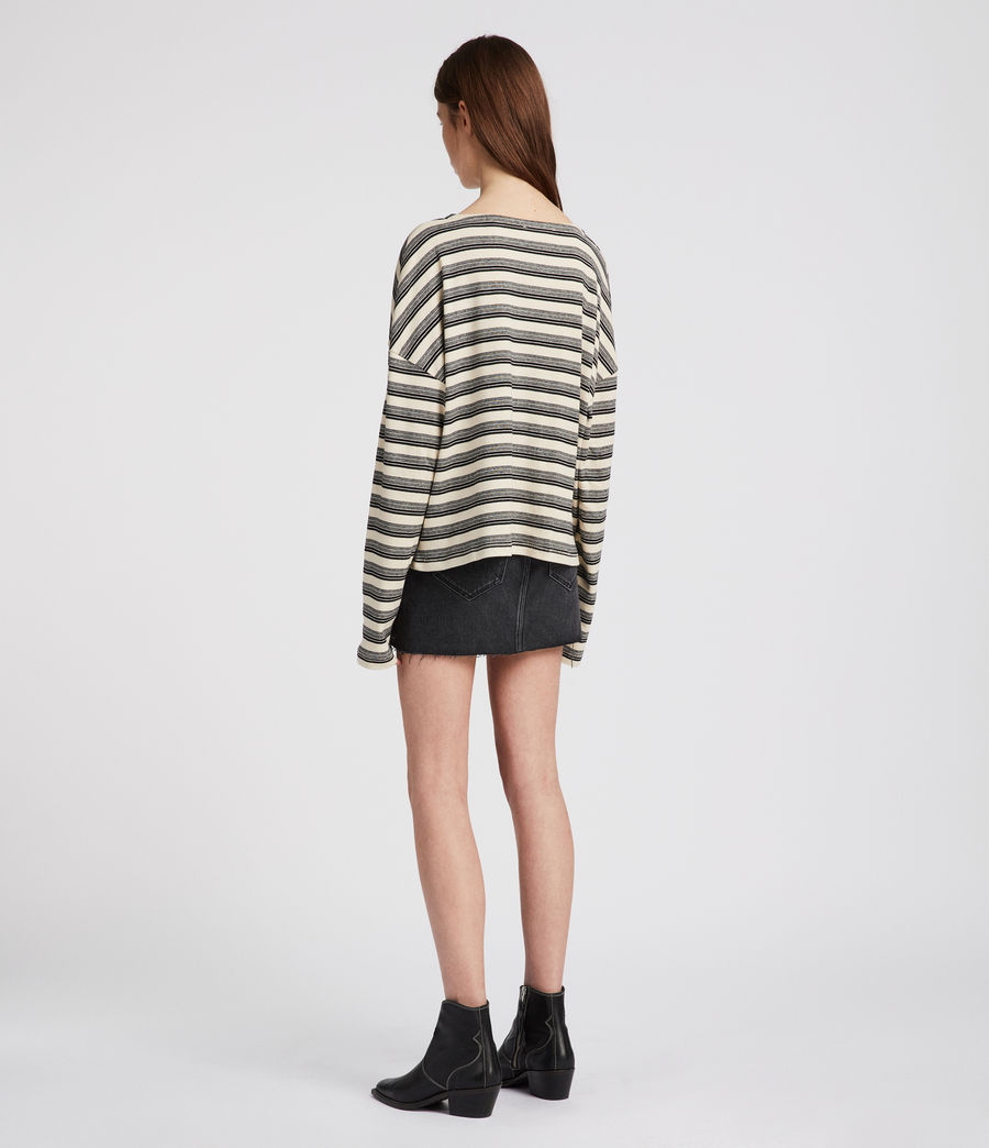 Womens Tilly Stripe Top (cream_black) - Image 3