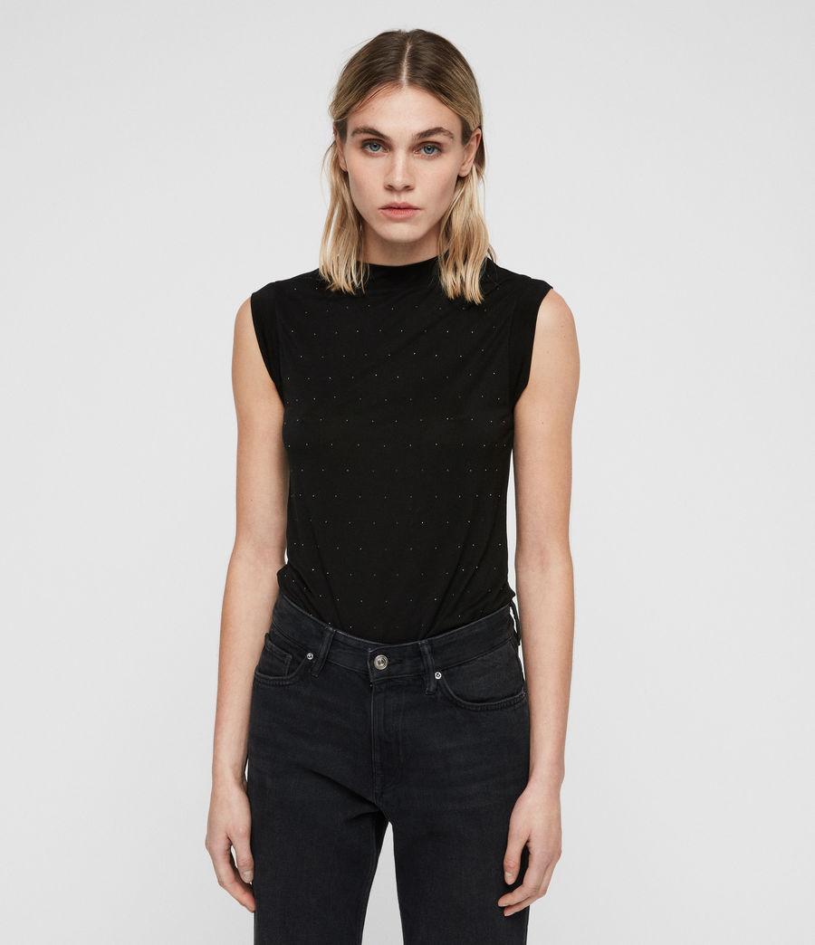 Damen Imogen Stud Tanktop (black) - Image 4