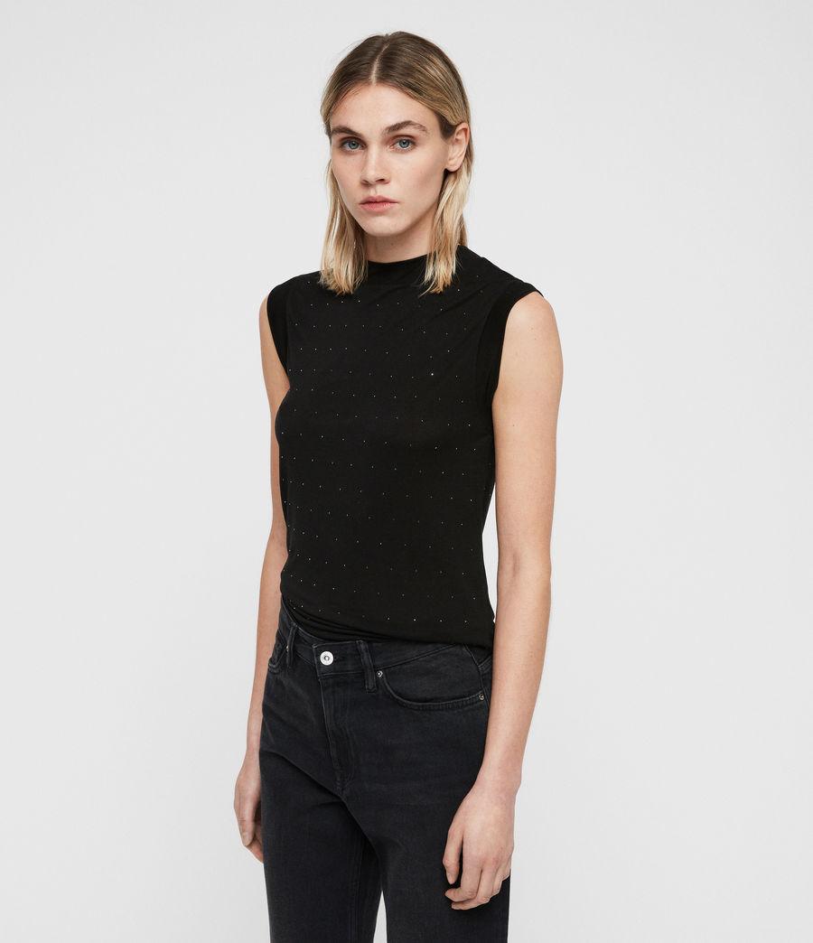 Damen Imogen Stud Tanktop (black) - Image 5