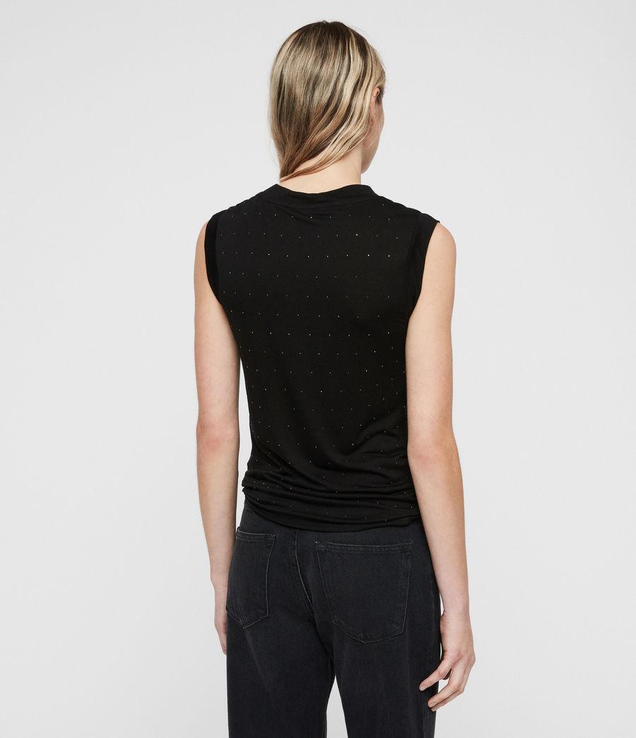 Damen Imogen Stud Tanktop (black) - Image 6