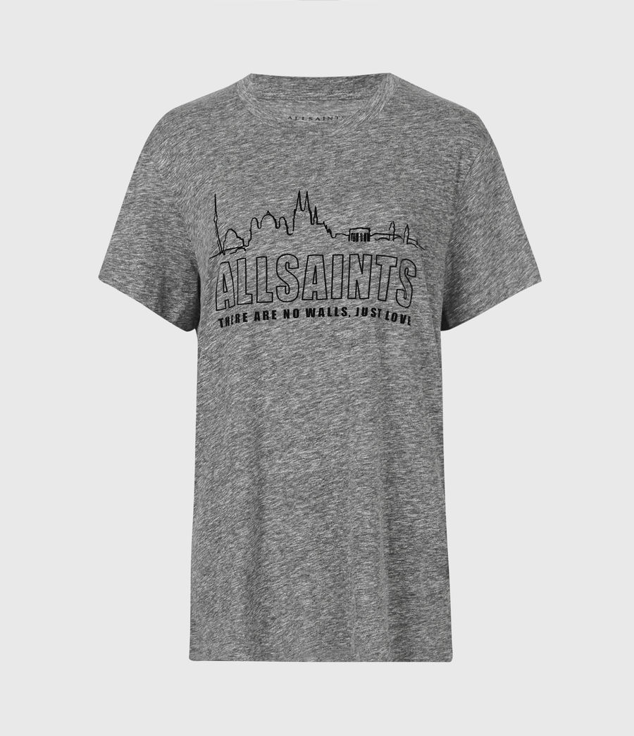 Womens Horizon Boyfriend T-Shirt (grey_marl) - Image 2