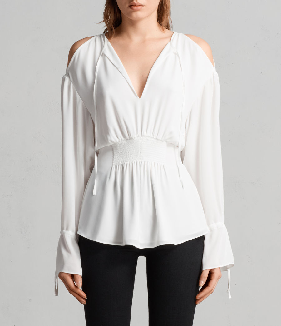 Mujer Top Lavete (chalk_white) - Image 1