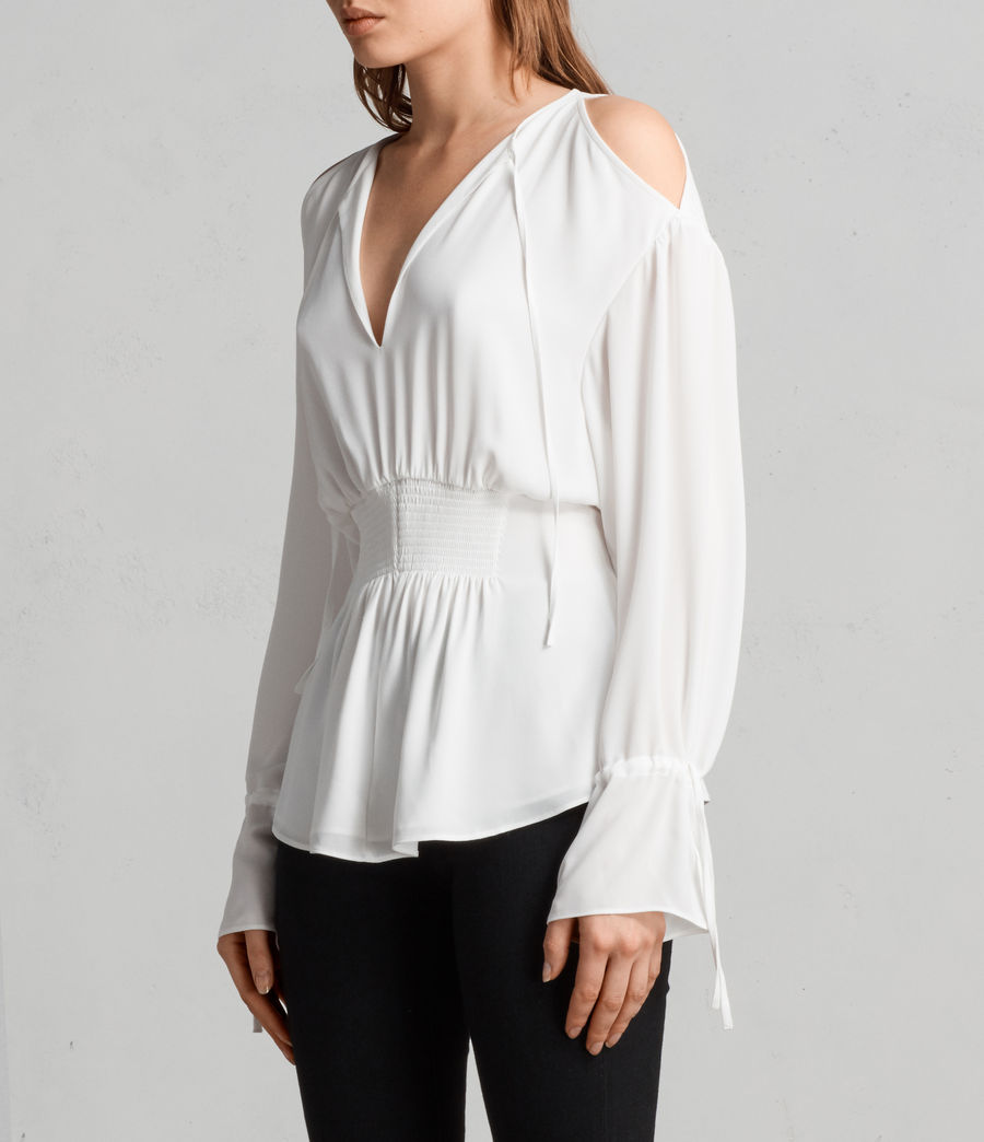 Mujer Top Lavete (chalk_white) - Image 3