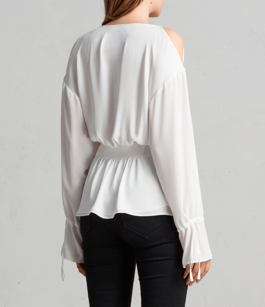 Womens Lavete Top (chalk_white) - Image 4