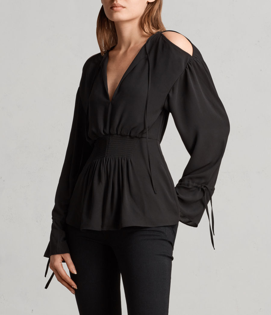 Mujer Top Lavete (black) - Image 3