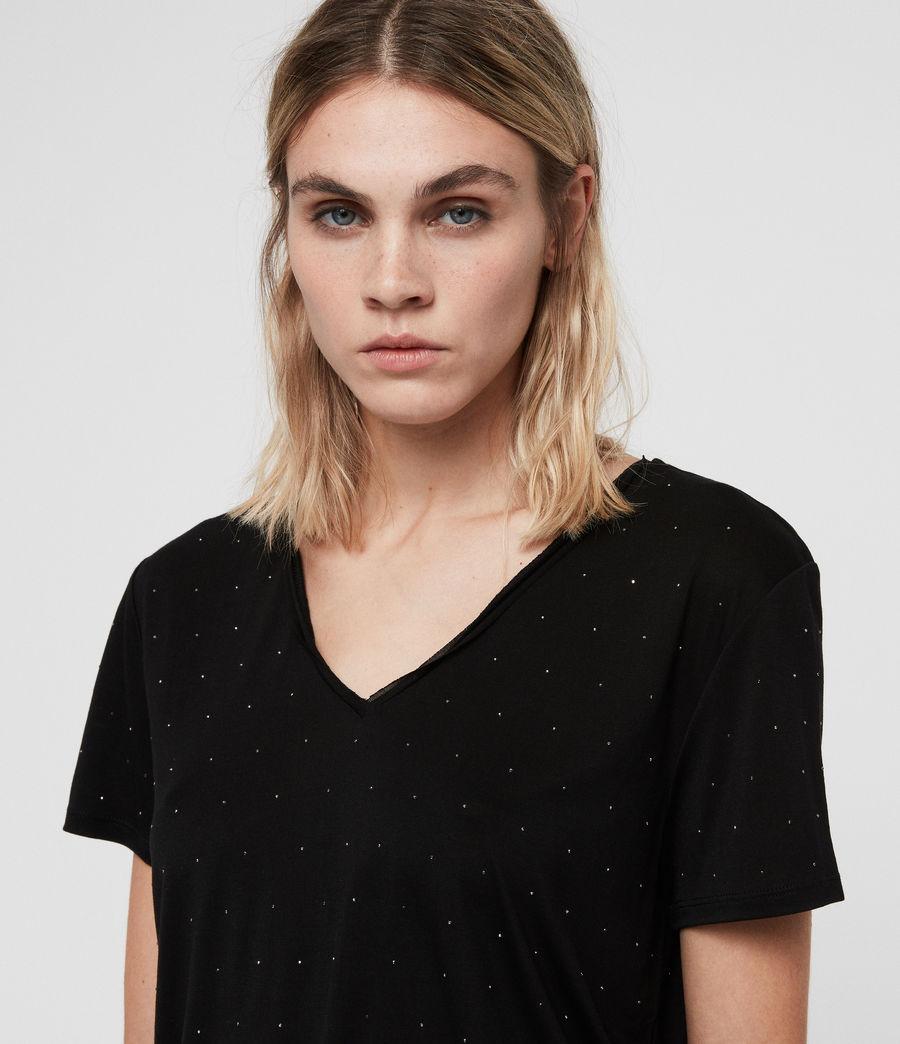 Women's Emelyn Stud T-Shirt (black) - Image 2