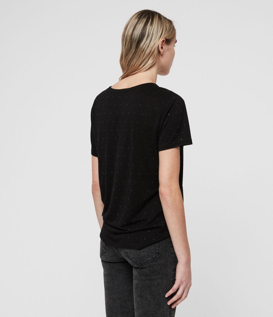 Women's Emelyn Stud T-Shirt (black) - Image 4