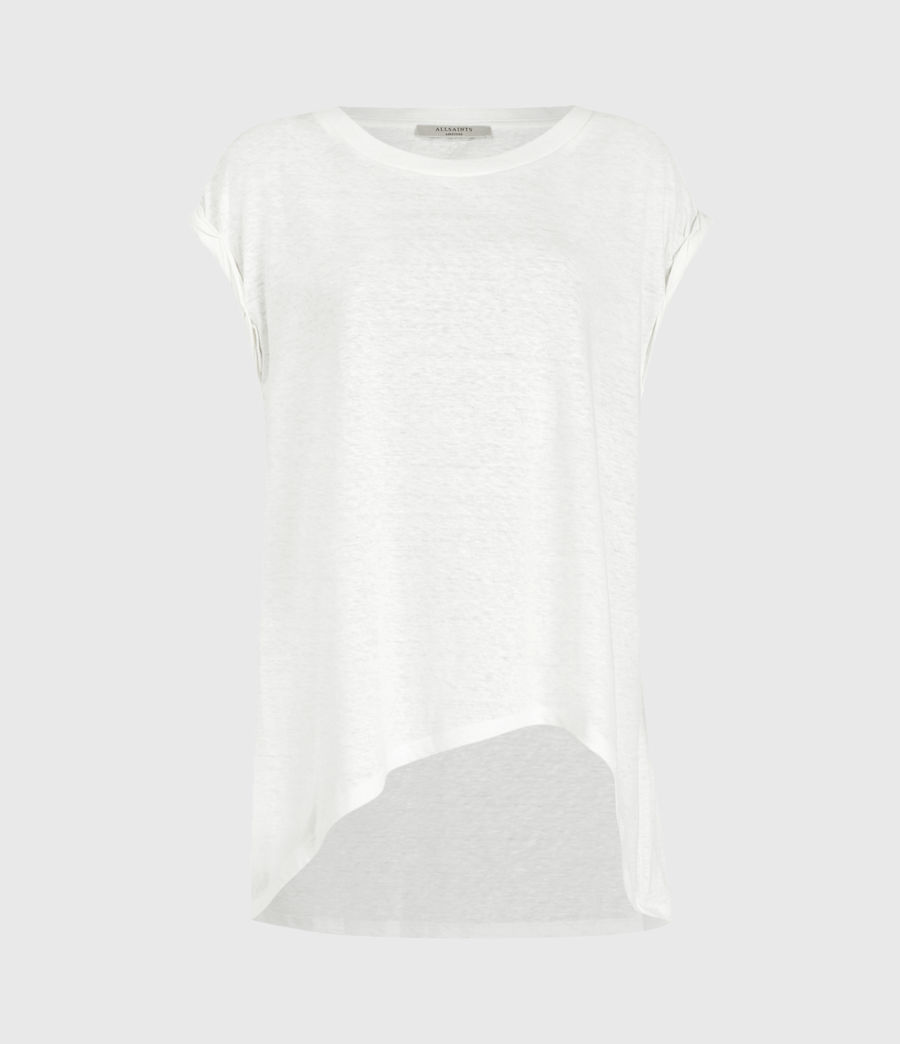 Women's Sanza Linen Blend Tank (chalk_white) - Image 2