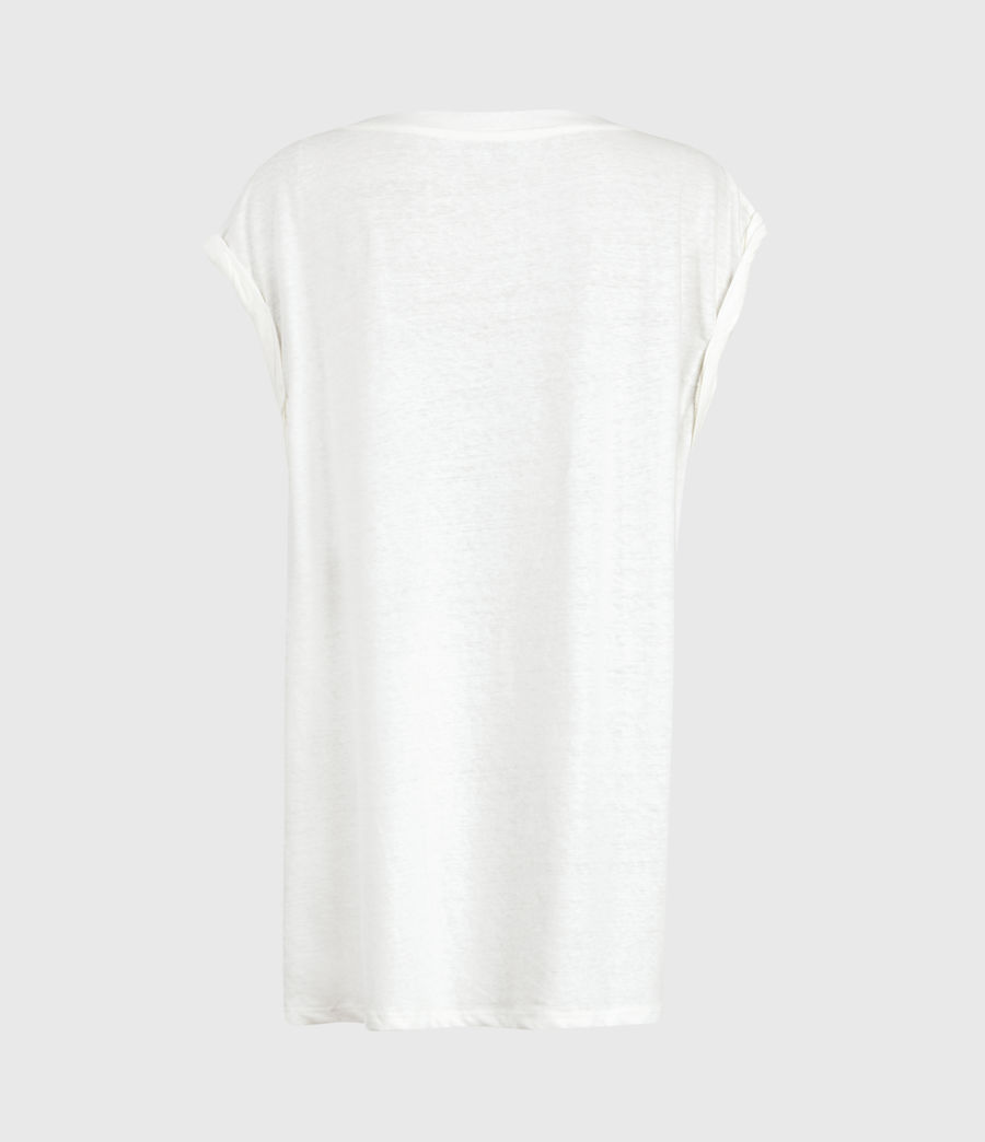 Women's Sanza Linen Blend Tank (chalk_white) - Image 3