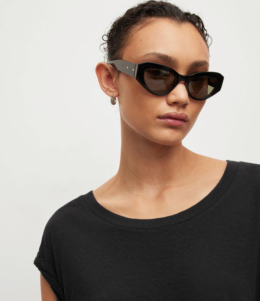 Womens Sanza Linen Blend Tank (black) - Image 2