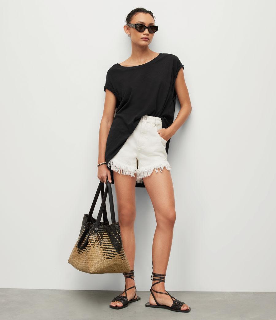 Womens Sanza Linen Blend Tank (black) - Image 3