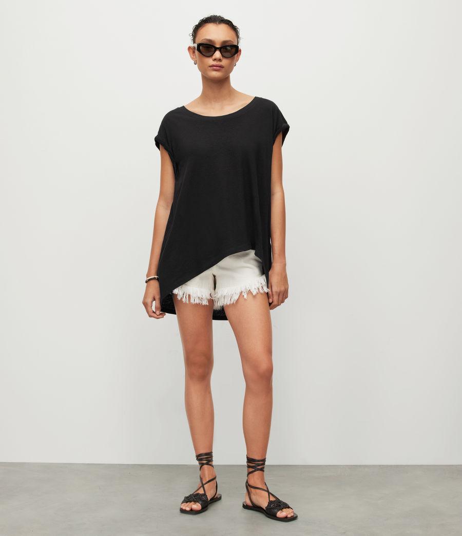 Womens Sanza Linen Blend Tank (black) - Image 4