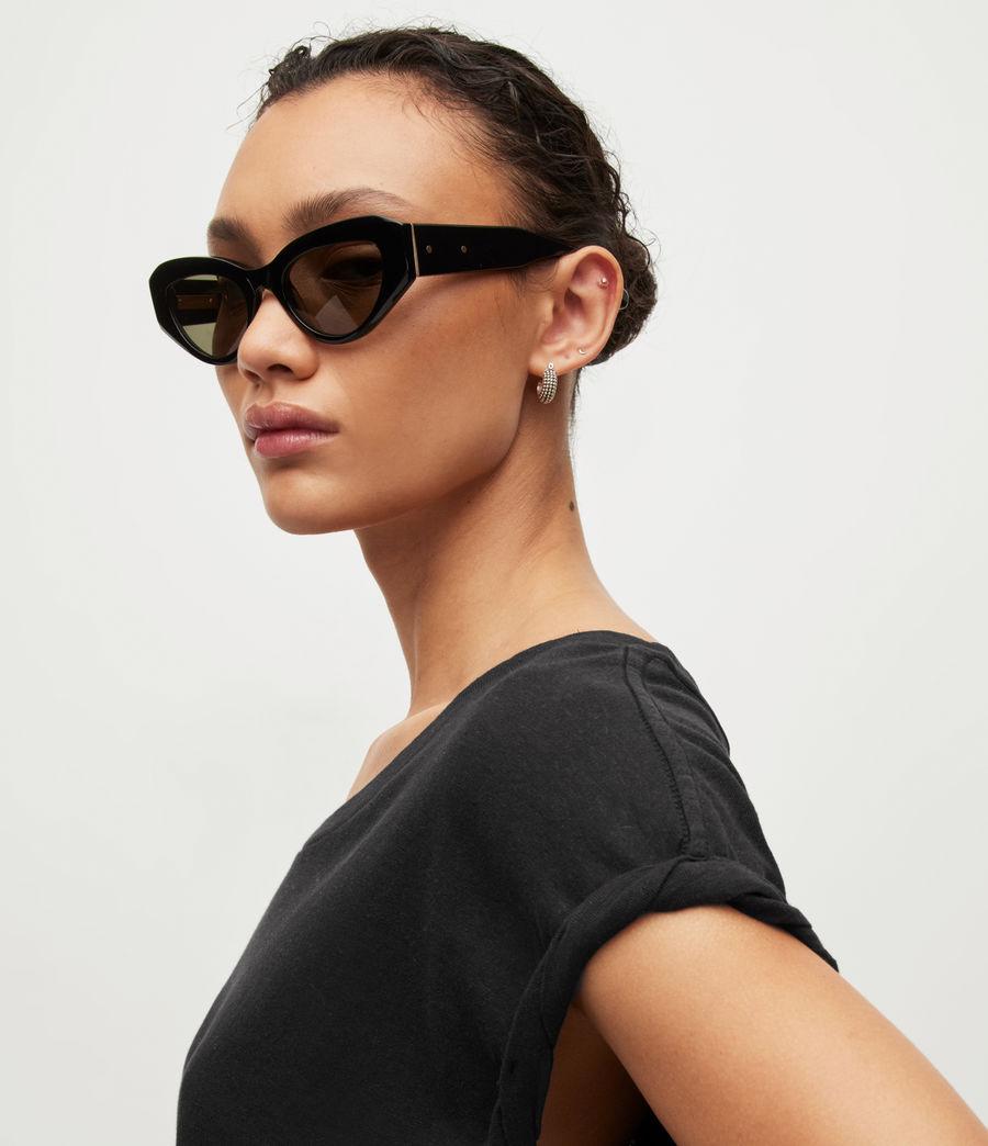 Womens Sanza Linen Blend Tank (black) - Image 5