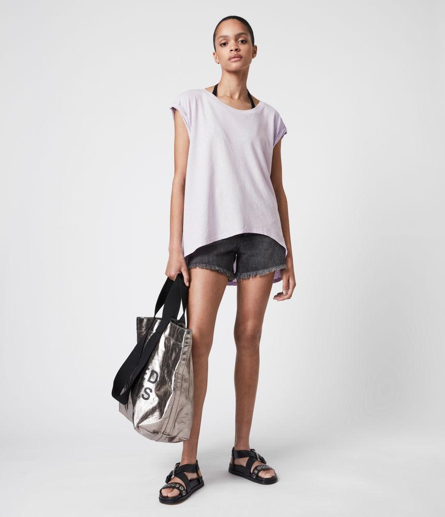 Women's Sanza Linen Blend Tank (misty_lilac) - Image 1