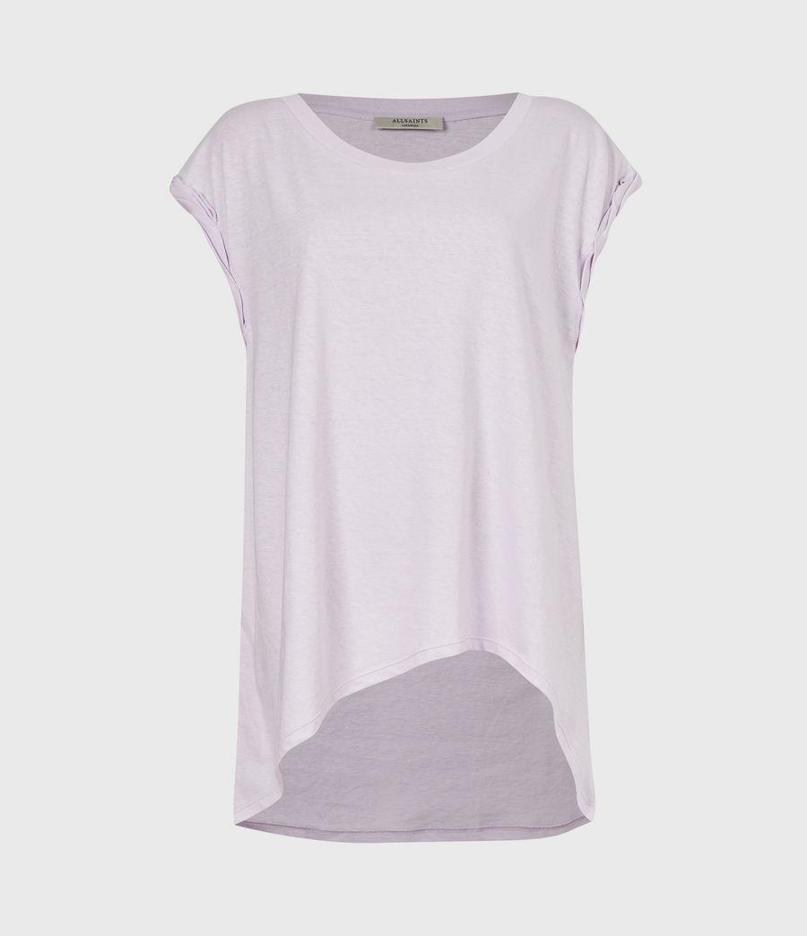 Women's Sanza Linen Blend Tank (misty_lilac) - Image 2
