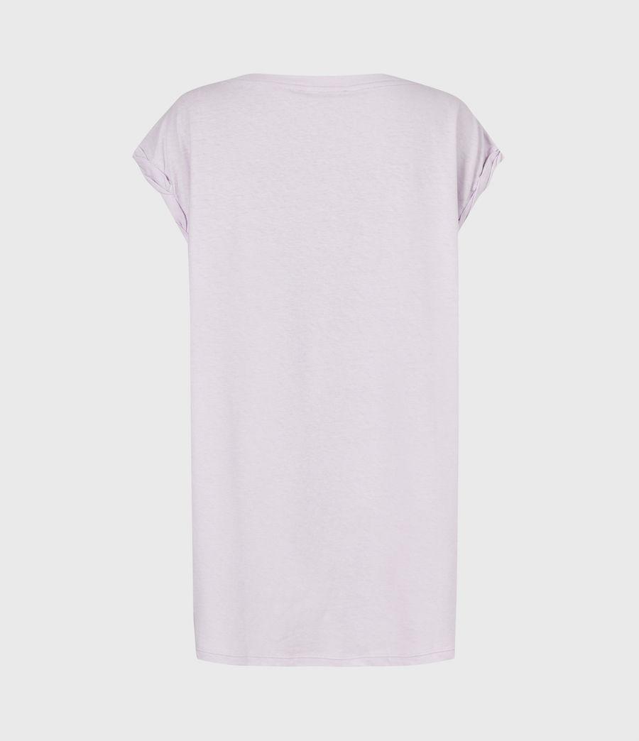 Women's Sanza Linen Blend Tank (misty_lilac) - Image 3