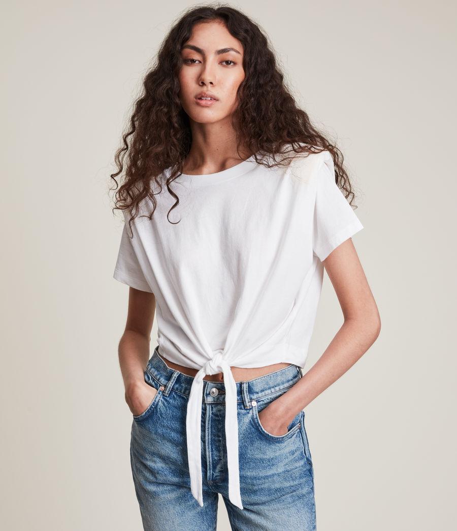 Women's Coni Tie T-Shirt (optic_white) - Image 1