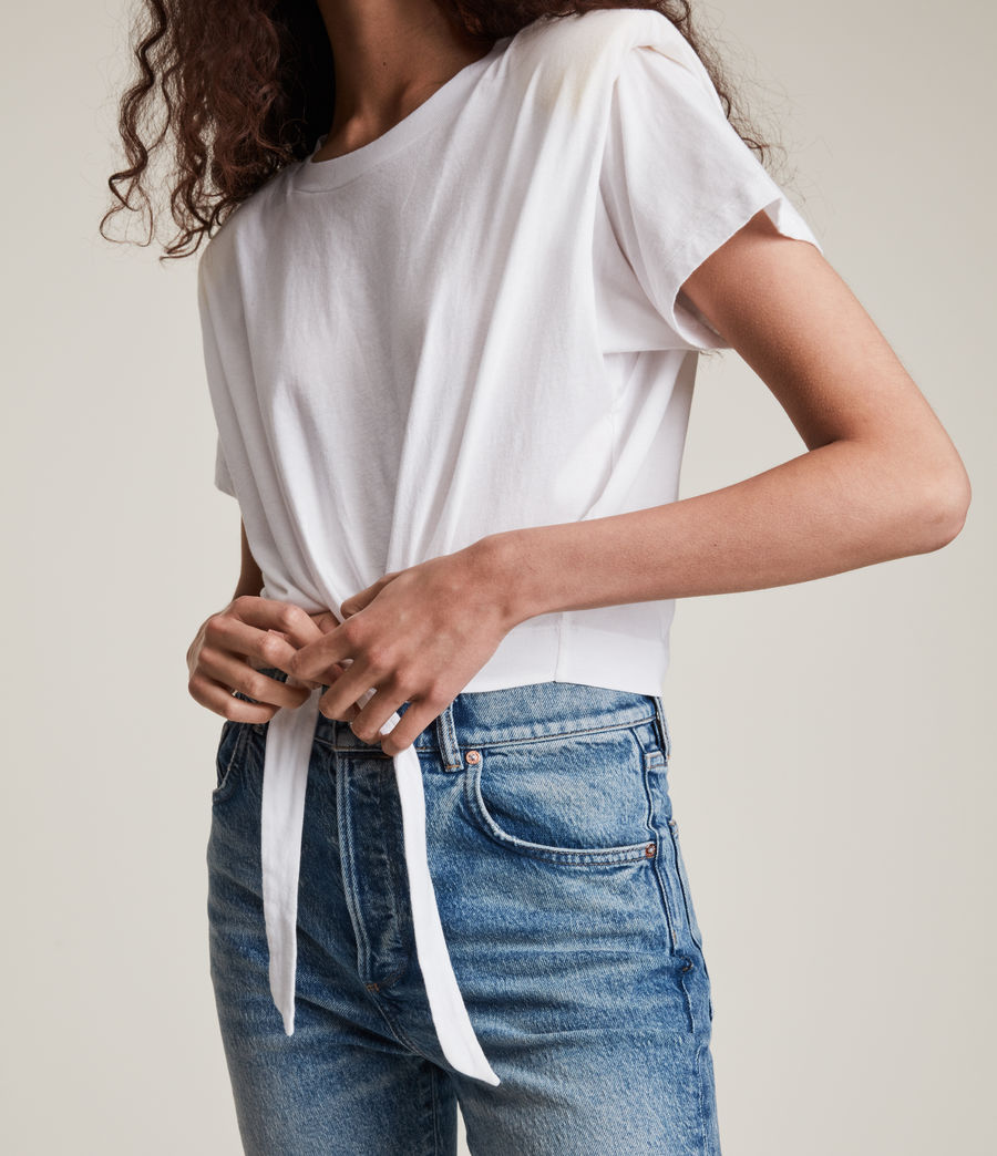 Women's Coni Tie T-Shirt (optic_white) - Image 3
