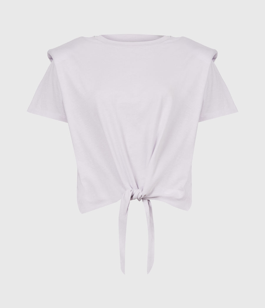 Womens Coni Tie Tank (misty_lilac) - Image 2