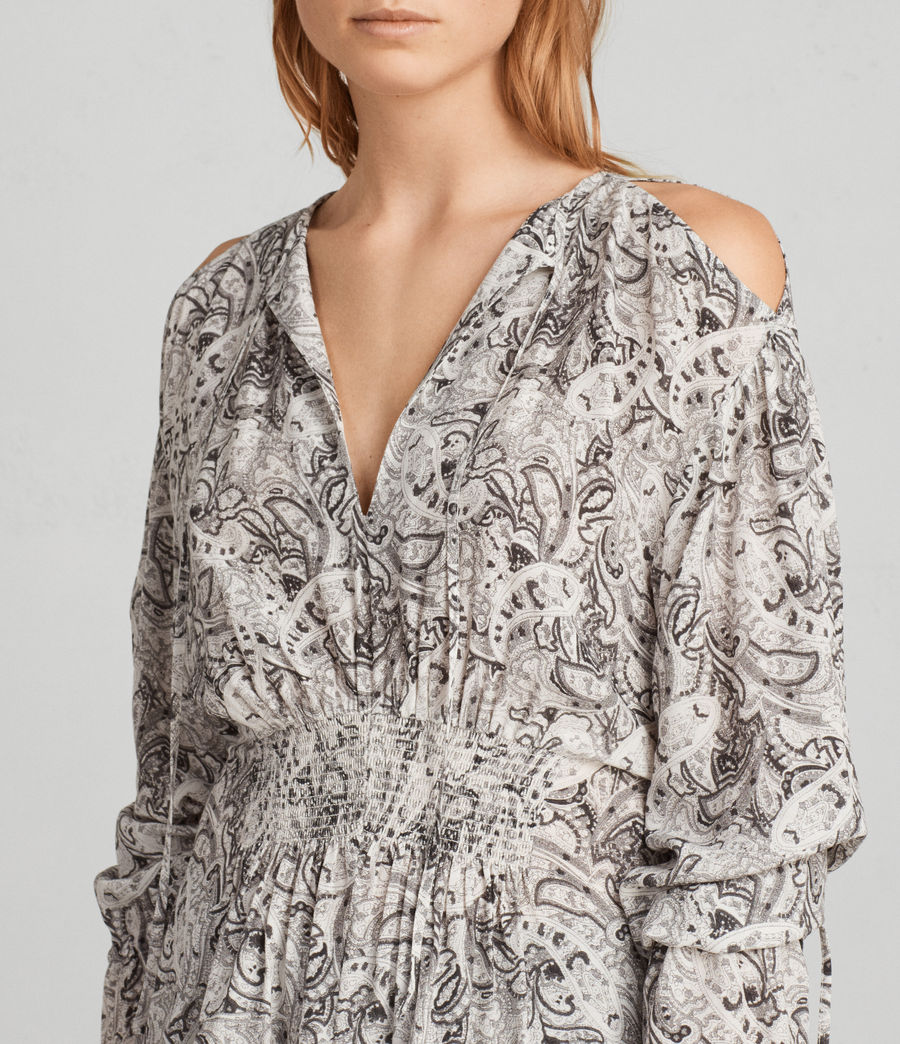 Womens Lavete Paisley Top (white) - Image 2