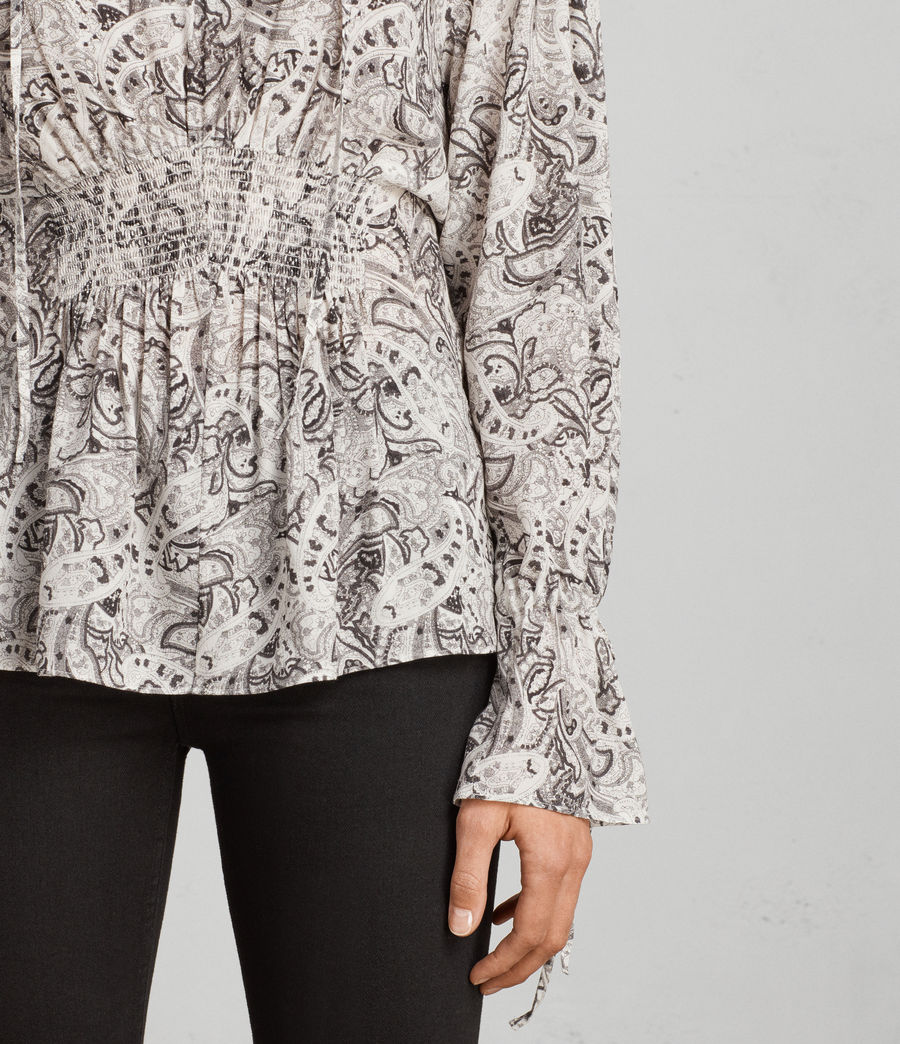 Womens Lavete Paisley Top (white) - Image 4