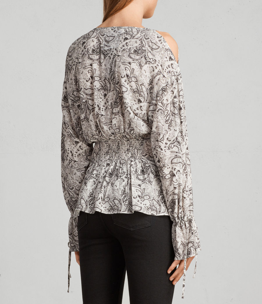 Womens Lavete Paisley Top (white) - Image 5