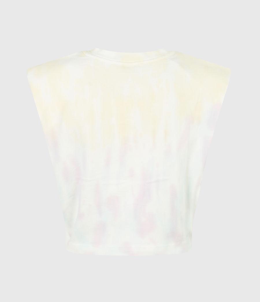 Women's Coni Cropped Tie Dye Tank (yellow_lilac) - Image 3