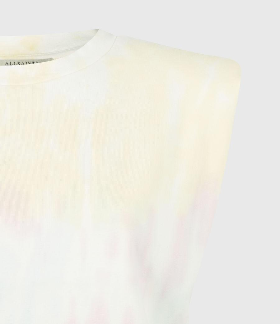 Women's Coni Cropped Tie Dye Tank (yellow_lilac) - Image 5