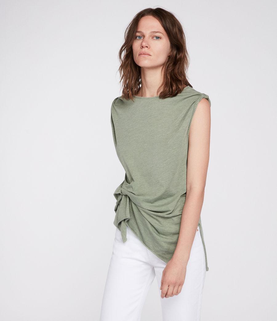 Mujer Camiseta Rivi (stone_green) - Image 1