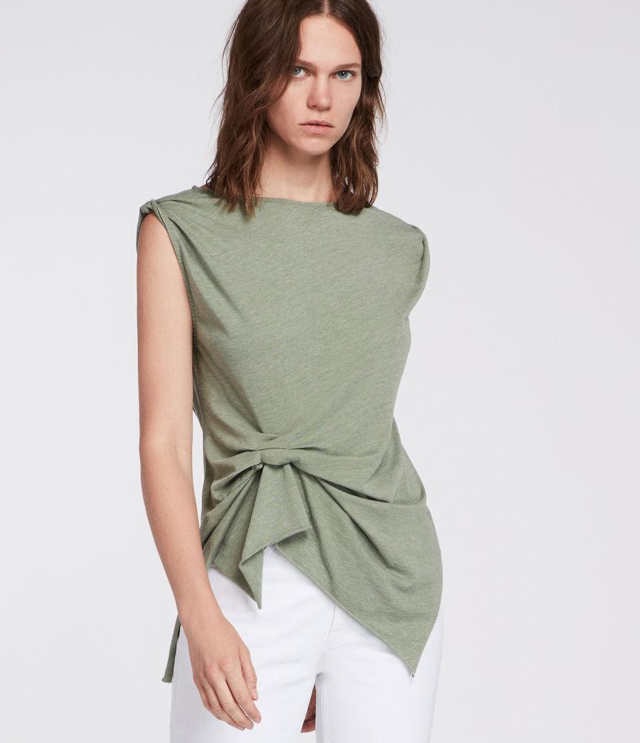 Mujer Camiseta Rivi (stone_green) - Image 2