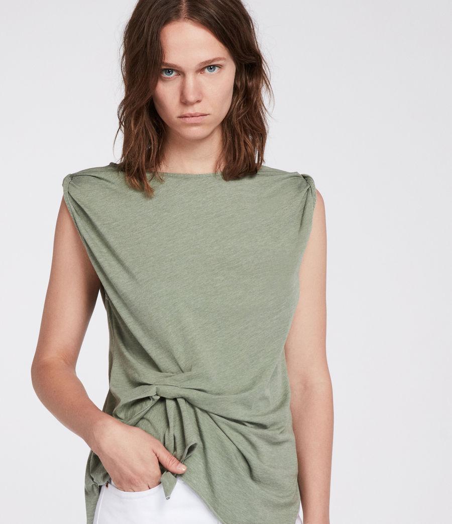 Mujer Camiseta Rivi (stone_green) - Image 3