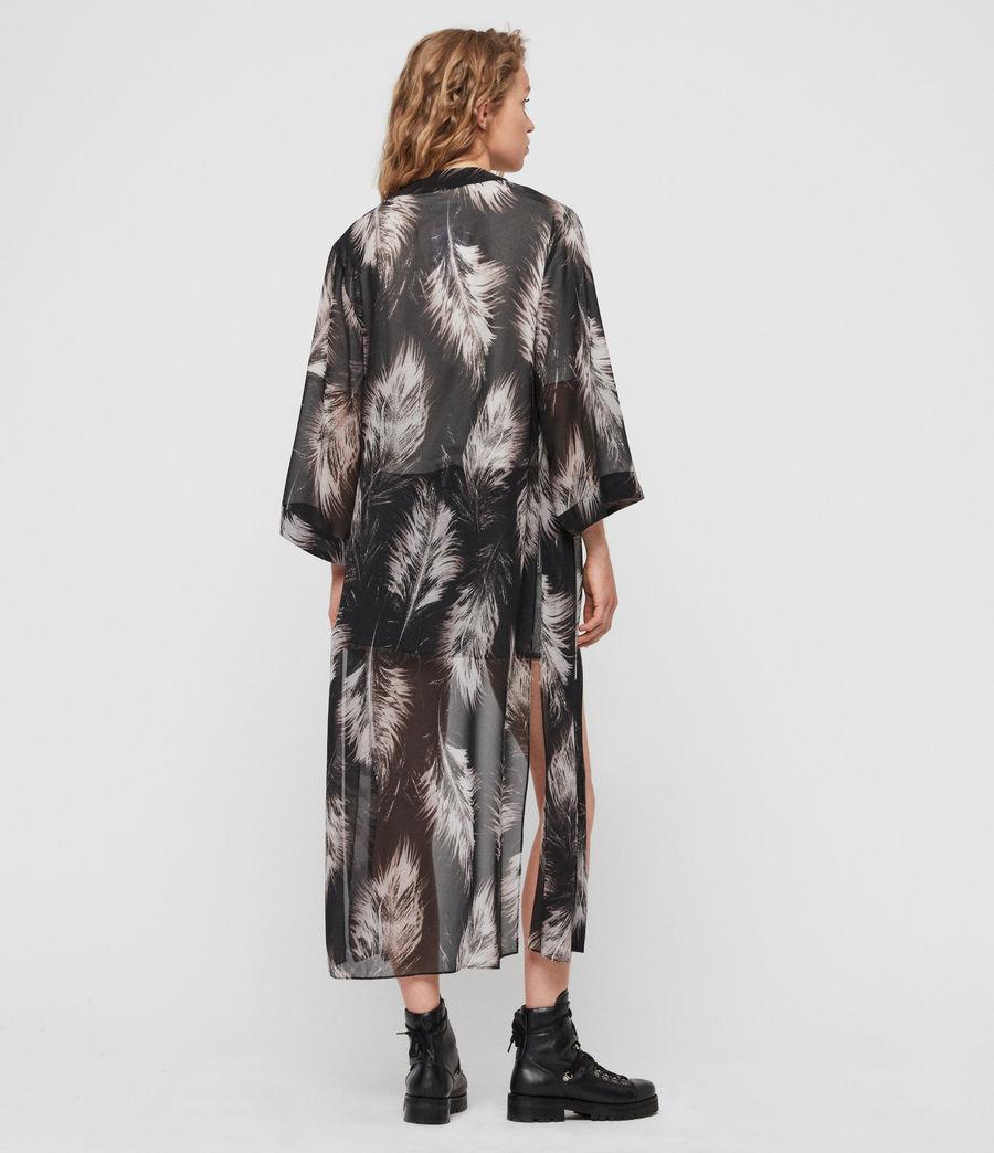 Women's Carine Feathers Kimono (black) - Image 4